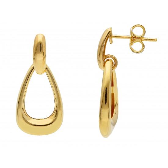 Yellow drop Italian gold earrings