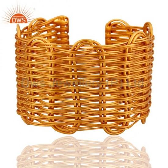 Ann Basket Cuff bangle