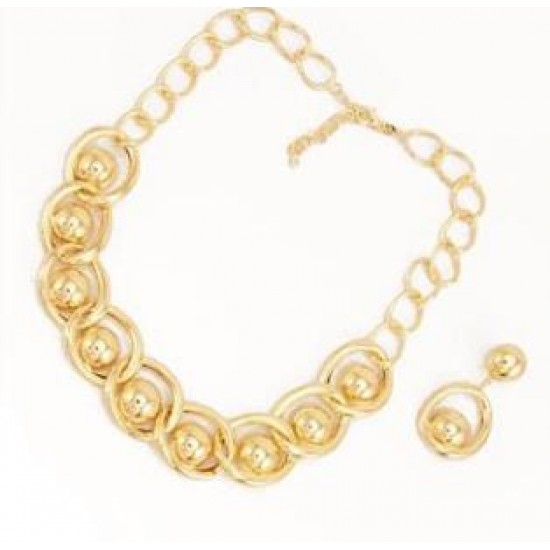 Aida's18K gold plated link collar Necklace set