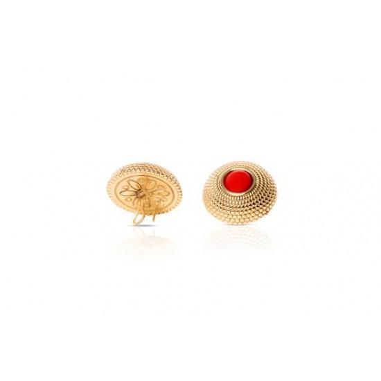 Ebony Coral Studs earrings
