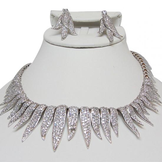 Sterling Silver Choker Necklace Set