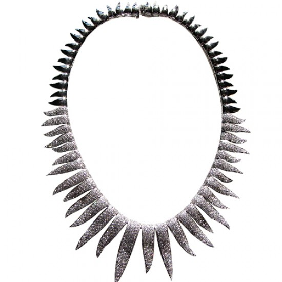 Exquisite Sterling Silver Choker Necklace