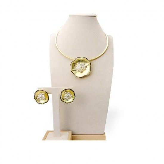18K gold plated 2pc Jewelry set